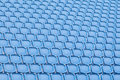Blue seat in sport stadium empty seats ready for the public Royalty Free Stock Photo