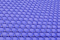 Blue seat in sport stadium empty seats ready for the public Royalty Free Stock Photography