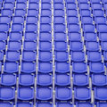 Blue seat in sport stadium empty seats ready for the public Stock Images