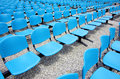 Blue seats Royalty Free Stock Image