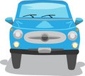 Blue Sedan Car Isolated - Vector Royalty Free Stock Photo