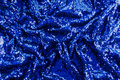 Blue sequin fabric Royalty Free Stock Photo