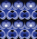 Blue seventies wallpaper Royalty Free Stock Images