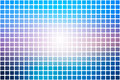Blue shades pink abstract rounded mosaic background over white