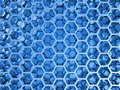 Blue shining honeycomb layers pattern d illustration background texture Royalty Free Stock Photos