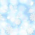 Blue shining seamless christmas background with snowflakes Royalty Free Stock Images