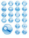 Blue shiny buttons Royalty Free Stock Photos
