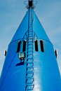 Blue ship exhaust Royalty Free Stock Photography