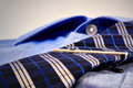 Blue shirt with tie Royalty Free Stock Photo