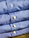 Blue shirts Stock Photo