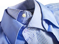 Blue shirts Royalty Free Stock Photo