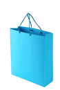 Blue shopping bag Royalty Free Stock Photo