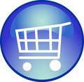 Blue shopping button Royalty Free Stock Photo