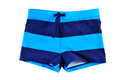 Blue shorts isolated on white background Royalty Free Stock Images