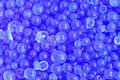 Blue silica gel loose dessicant for humidity control Royalty Free Stock Images