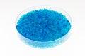 Blue silica gel Royalty Free Stock Photo