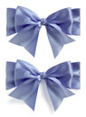 Blue silk bow set Royalty Free Stock Photo