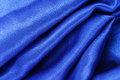 Blue silk fabric texture close up of the Stock Photos
