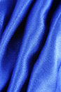 Blue silk fabric texture closeup of the Royalty Free Stock Photography