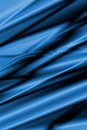 Blue silk wallpaper satin or with some smooth folds Stock Photo