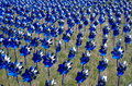 Blue and silver pinwheels Royalty Free Stock Photo