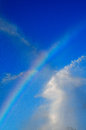 Blue skies and rainbows Royalty Free Stock Images