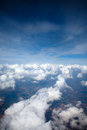 Blue sky above the clouds Stock Images