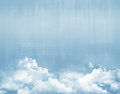 Blue sky above clouds grunge background Stock Photo