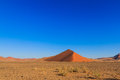 Blue sky above red sand dune landscape Sossusvlei Royalty Free Stock Photo