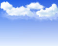 Blue sky background with realistic mesh clouds up Stock Photos