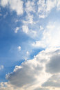 Blue sky and beautiful white clouds Stock Photography
