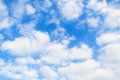 Blue sky and beautiful white clouds Stock Photos