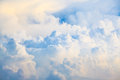 Blue sky and big clouds abstract background Stock Photo