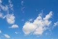 Blue sky bue and white clouds Stock Photography