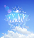 Blue sky card, enjoy sunny days Royalty Free Stock Photo