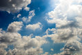 Blue sky and cloud bright saturate Stock Image