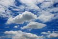 Blue sky with cloud closeup Royalty Free Stock Images