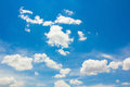 Blue sky with cloud white Royalty Free Stock Image