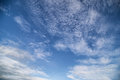 Blue sky clouds in the Royalty Free Stock Image