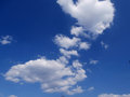 Blue sky and clouds background Stock Photography