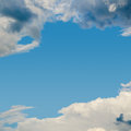 Blue sky and clouds beautiful would make a background space for message Stock Images
