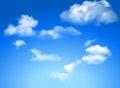 Modrá obloha mraky