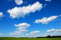 Blue sky with clouds clear fluffy white Stock Images