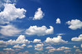 Blue sky with clouds composition of nature Stock Image