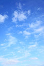 Photo : Blue sky with clouds  the