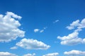 Blue sky and clouds the in a summer day Royalty Free Stock Image