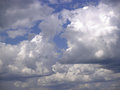 Blue sky with clouds on a summer day Royalty Free Stock Images
