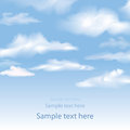 Blue sky with clouds vector background copy space Royalty Free Stock Image