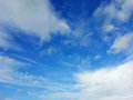 Blue sky with clouds white on a sunny day Stock Photography