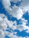 Blue sky with cumulus clouds background Royalty Free Stock Photography